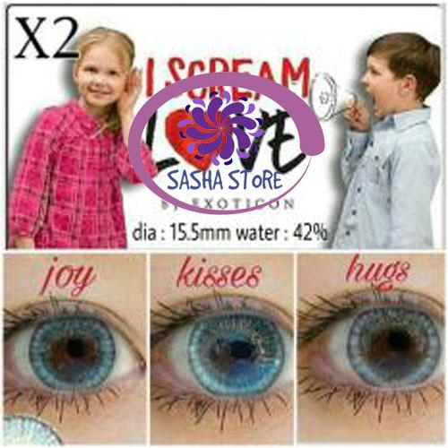 SS I Scream Love Softlens By Exoticon - FREE LENSCASE - Hijau (Kisses)