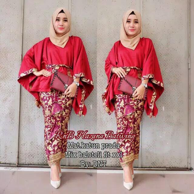Baju Batik / Baju Kebaya / Batik Modern / Batik Terbaru /Batik Terbaru 2018 / Batik Wanita / Batik Murah / Batik Sarimbit Hazana Batwing