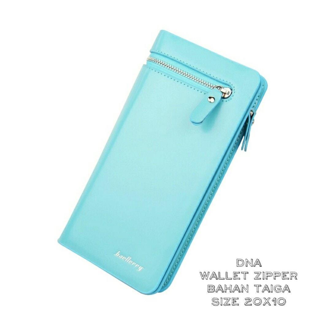 Jual Termurah Dompet Panjang Wanita / Dompet Fashion / Zipper Elegant Tosca - Turquoise Promo