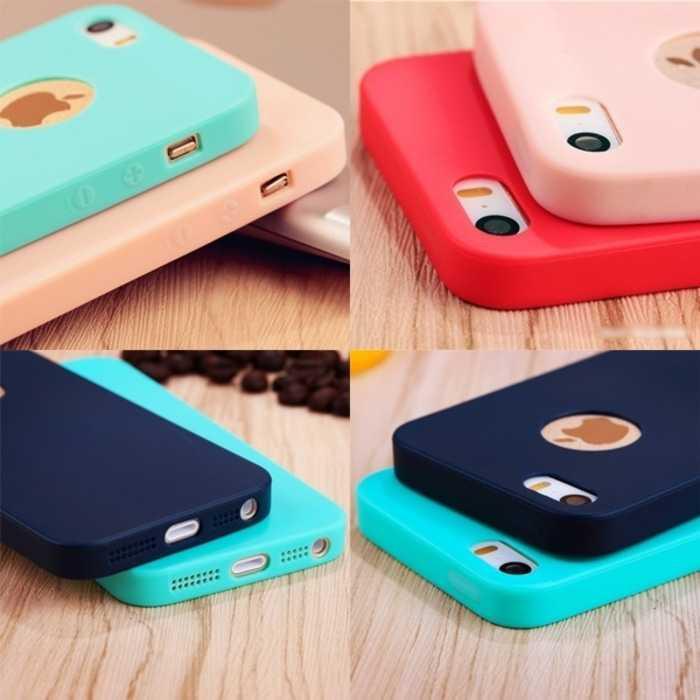 Casing Soft Case Slim Silicon Colorful For iPhone 6 6S 6 Plus 7 7 Plus .