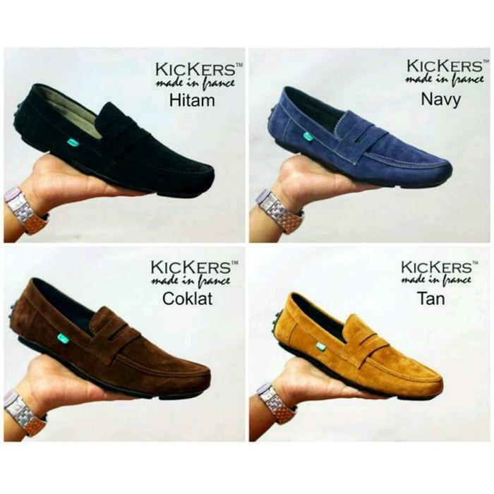 Sepatu Casual Pria Kickers France Slop Formal Sneakers Kerja
