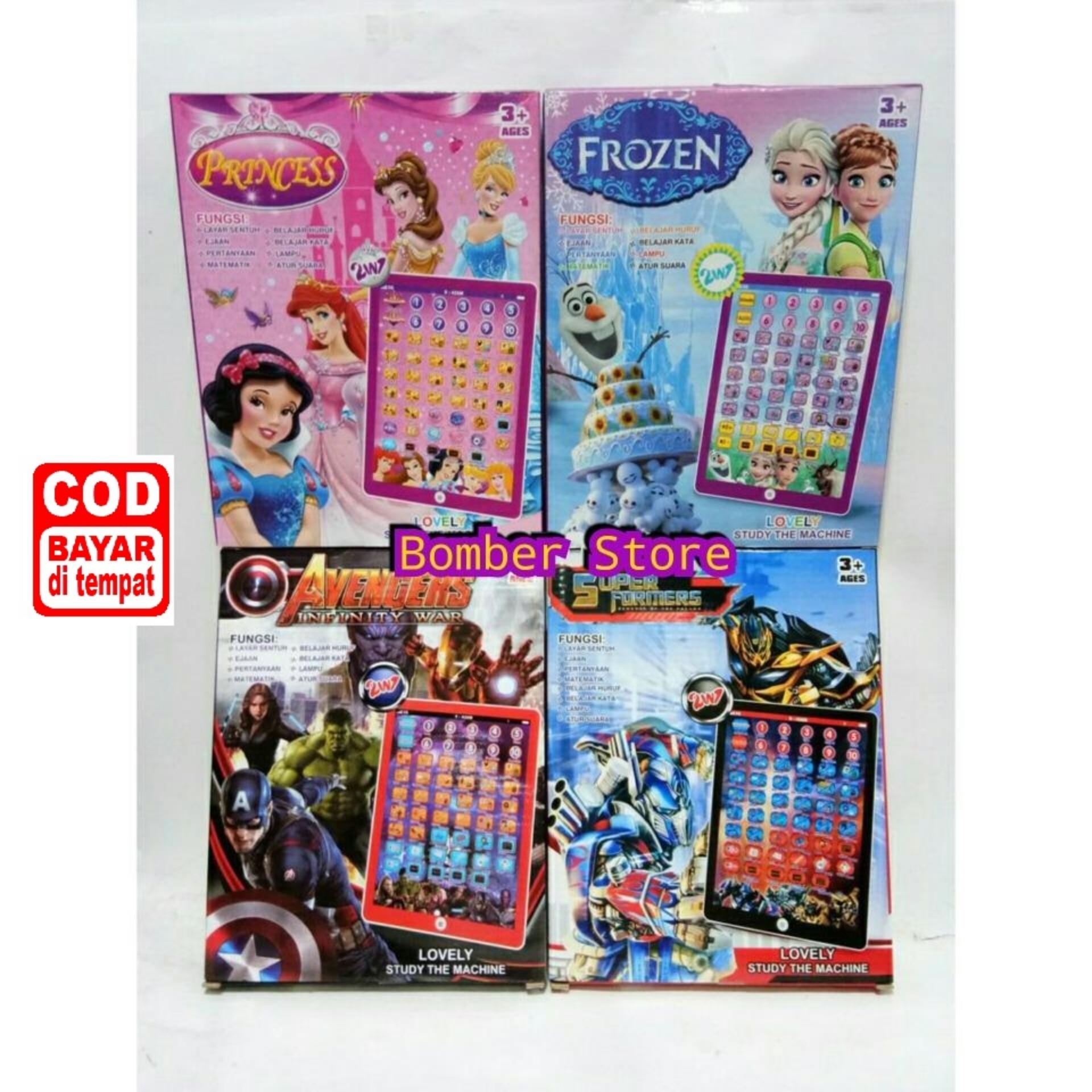 Mainan Anak Ipad Mainan karakter - I Pad Karakter dengan 8 program edukasi