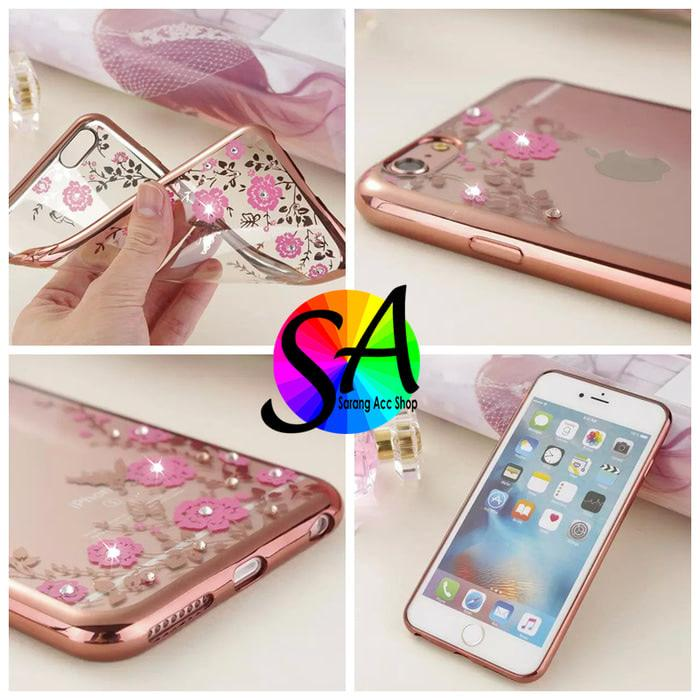 SOFT CASE WINIFRED FLOWER CHROME FOR REDMI 4A