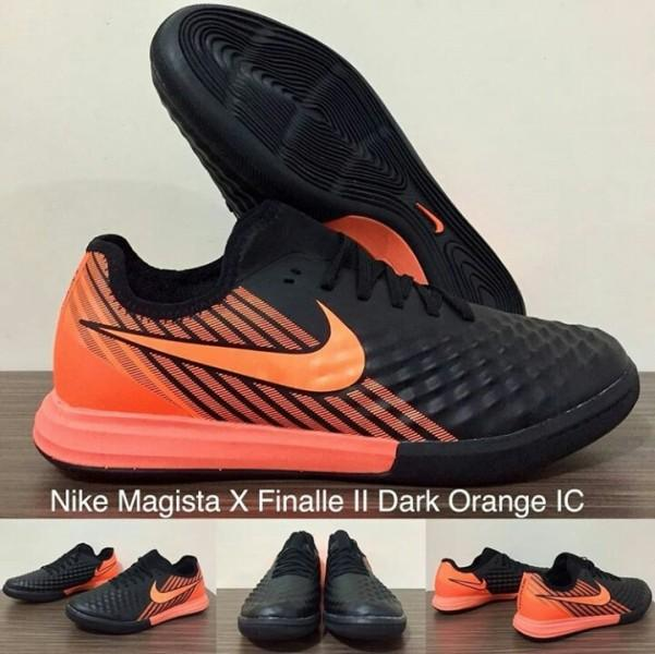 Sepatu Futsal - NIKE MAGISTA X FINALLE II DARK ORANGE IC + GRADE PREMIUM + BOX ORIGINAL