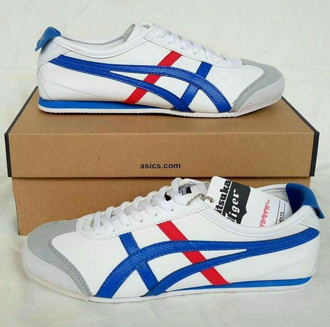 Sepatu asics tiger - white