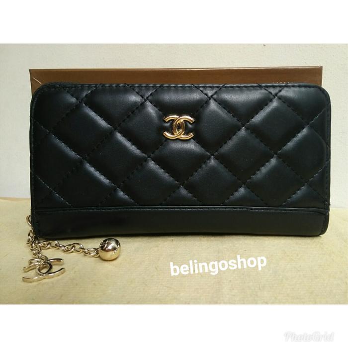 Dompet panjang wanita import Resleting 1 CHANEL 1021# BLACK - k6OOnx