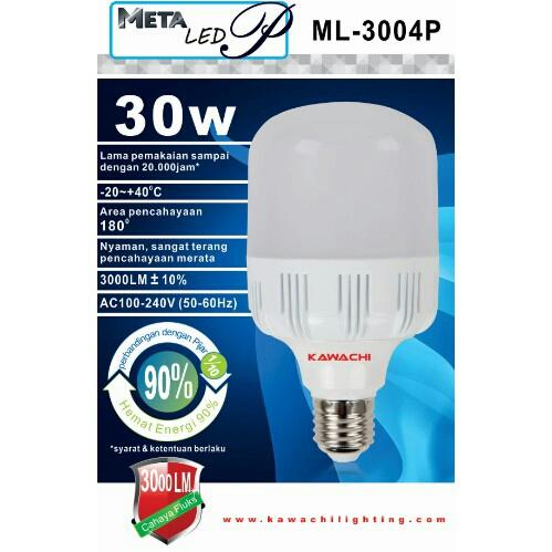 Lampu Kawachi METACOOLER LED 30Watt Bohlam Dengan Pendingin Hemat 90%