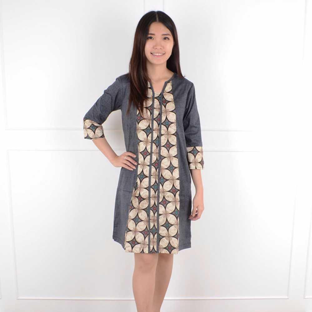 Best Seller!!! De Voile Dress Batik Wanita Winata Cm Long Dress Keren Terbaru Murah