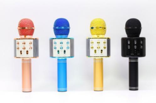 78Star Paling Laku Mic Karaoke Portable Bluetooth Portable Wster - Mic Wireless Hifi Speaker WS-858 - Warna Hitam