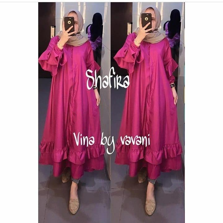 Tunik Safira Tunic Balotelly Baju Wanita Muslim Panjang Wanita Modern  Atasan Wanita Hijab Casual Pakaian Modis 982642b53d