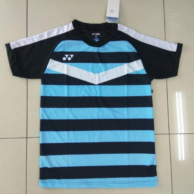 Kaos Atasan Baju Olahraga Jersey Badminton / Bulutangkis Yonex Y33 Sky Blue