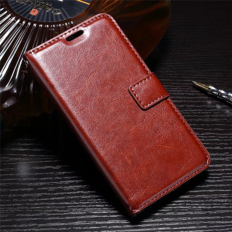 FLIP COVER WALLET Vivo Y55 Y55s Leather Case Kulit Dompet Casing Retro Vintage Premium Kick Stand Magnetic Lock