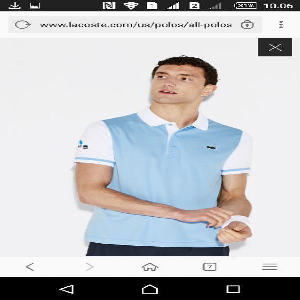 Polo Lacoste Original Miami Open Shirt  size 6