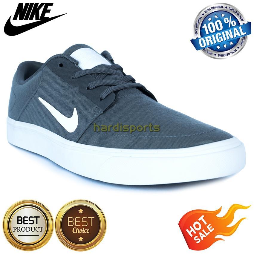 Sepatu Sneaker Casual Pria Nike SB Portmore CNVS 723874-010 - Dark Grey