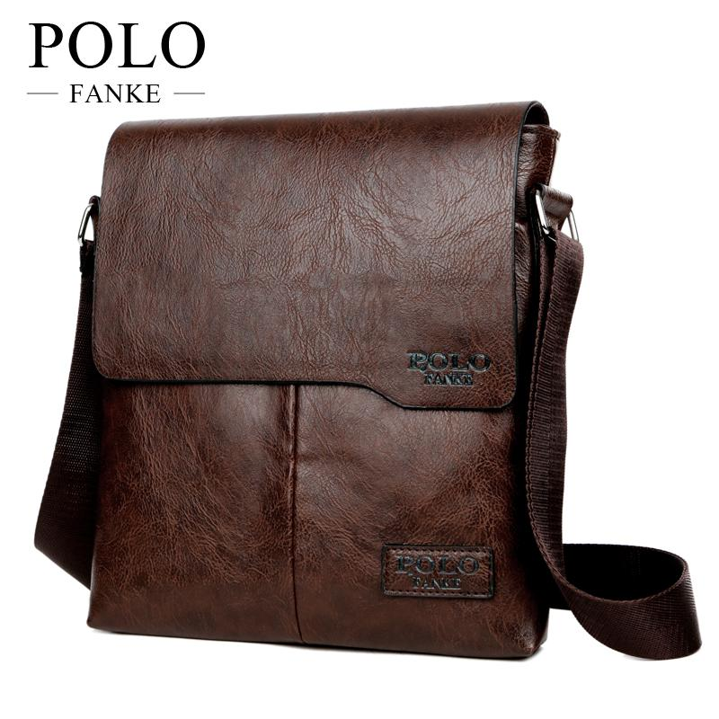 e087cc4544ca FANKE POLO Man Messenger Bag PU Leather Male Shoulder Bags Famous Brand Fashion  Casual Business Men s
