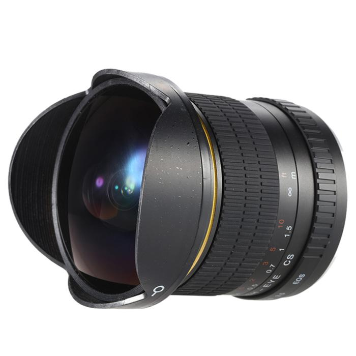 Lensa Kamera Fish Eye Fixed Focus 8Mm F/3.5 For Canon - Black