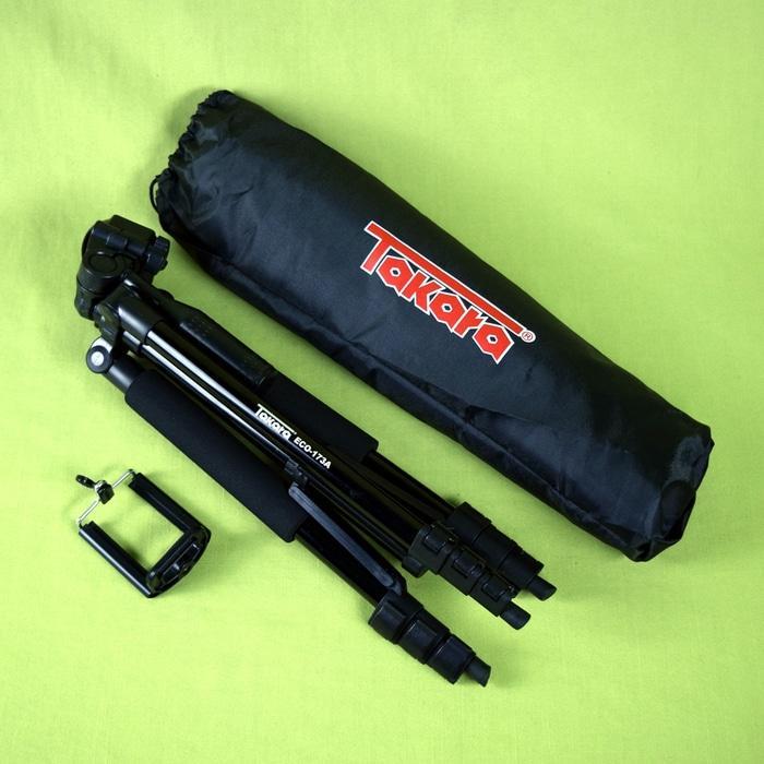 Tripod Takara ECO-173A buat Camdig, Handycam, DSLR dan Hp + Holder U