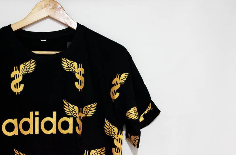 Baju Kaos Pria Tshirt Kualitas Distro Model ADIDAS DOLLARS - 2 ...
