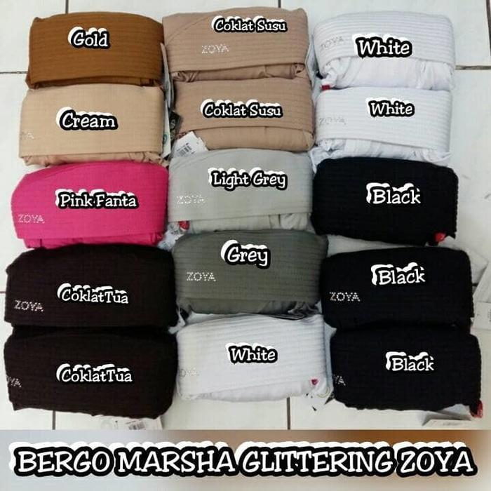 Bergo/ Hijab Instan MARSHA GLITTERING ZOYA Original
