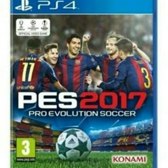 Kaset PES 2017 PS4 (bekas)