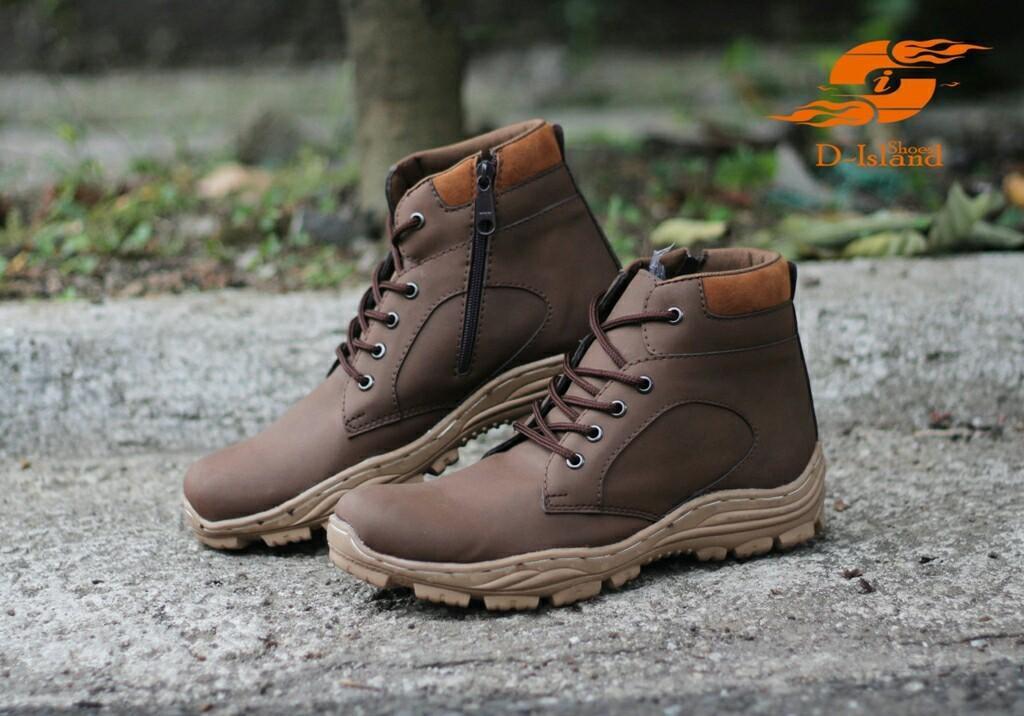 Sepatu Boots Tinggi Pria D-Island Sepatu PDL Safety 3 Model Baru