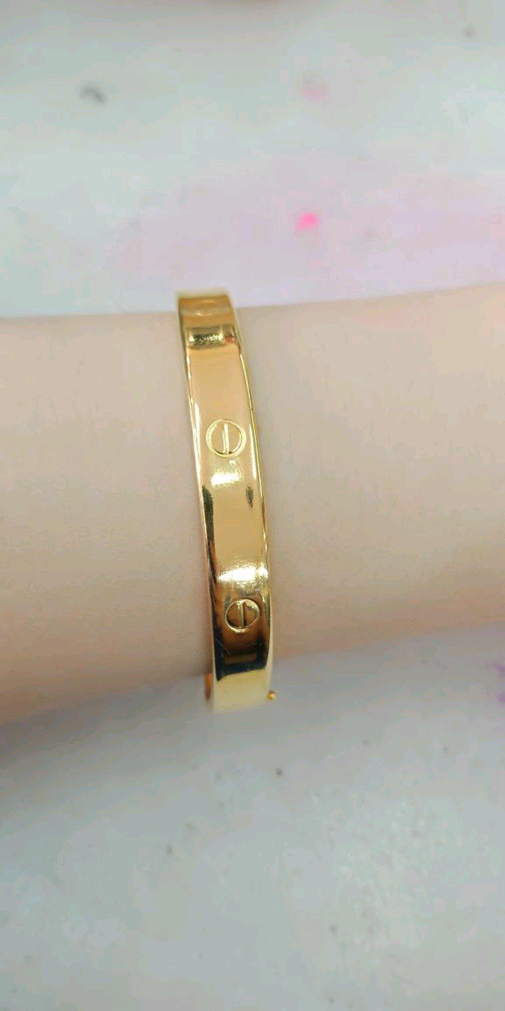 Gelang Emas Asli Kadar 875 Cartier Bulat