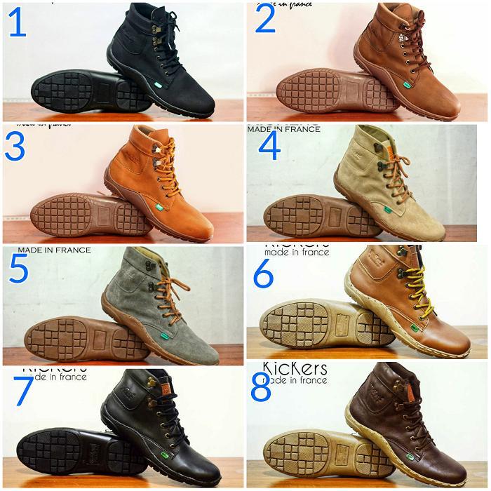 Promo Sepatu Pria Kickers Fyu Semi Boots Tracking Hiking Touring Naik Gunung Fashion