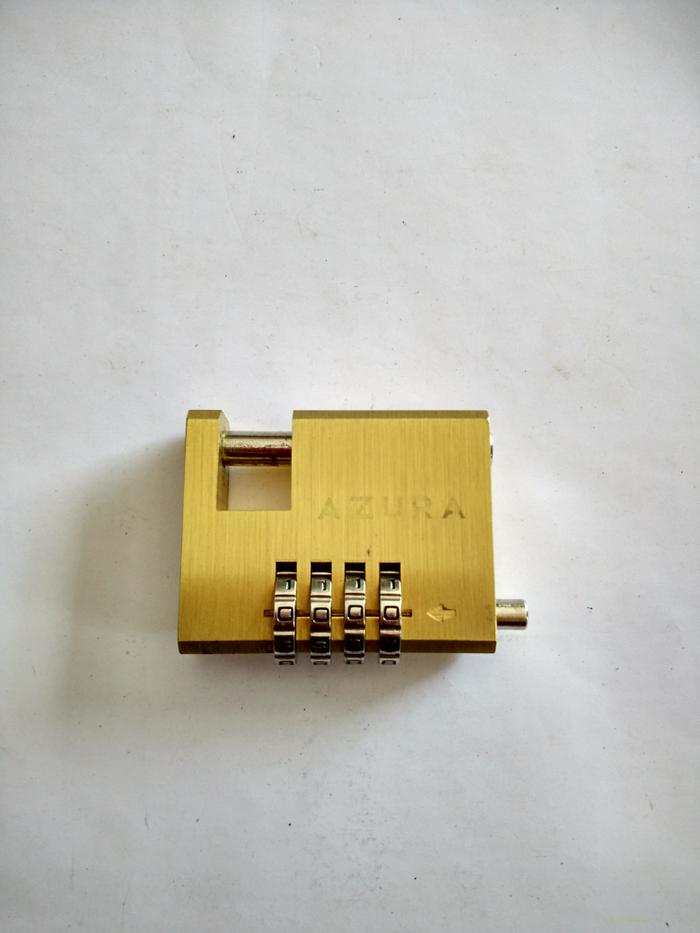 Gembok Cakram / Disc Motor Azura Kuningan Nomor 4 Digit - 50 mm - 1l9rax