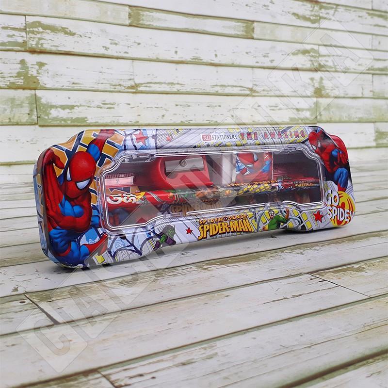 Spiderman XD9545 - Kotak Tempat Pensil Anak Set Alat Tulis