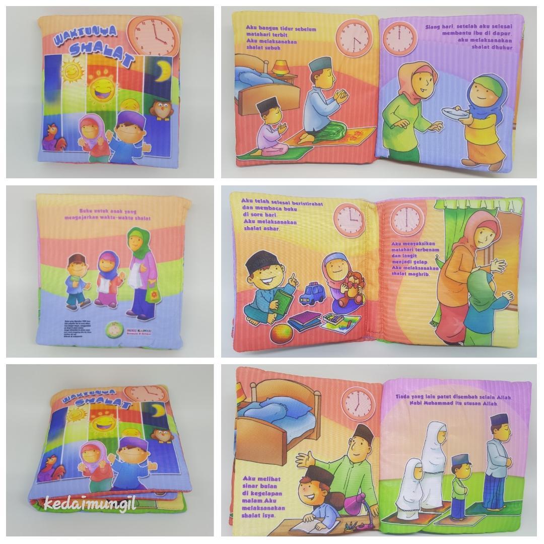 ... BunTal Buku Bantal Waktunya Shalat (Buku Kain Anak Muslim) - 4 ...