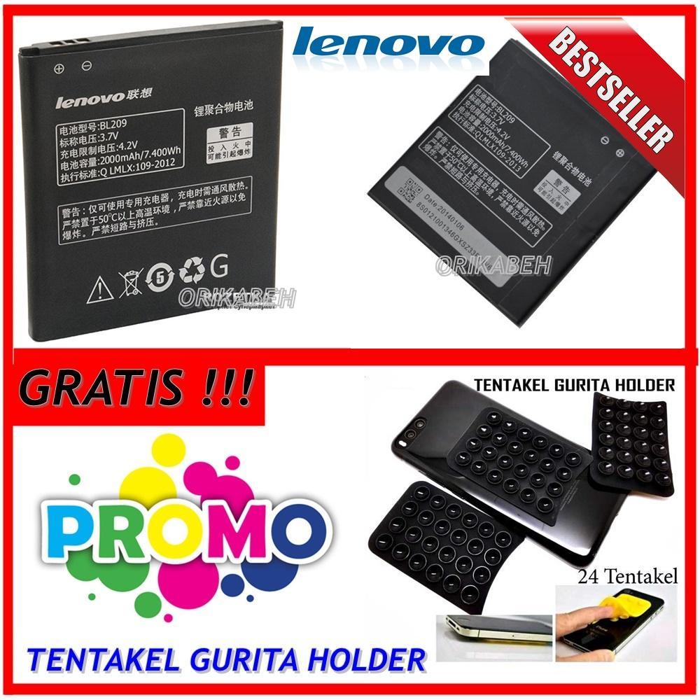 Lenovo Baterai / Battery BL209 For Lenovo A706 / A516 Original - Kapasitas 2000mAh + Gratis Holder Gurita ( orikabeh )