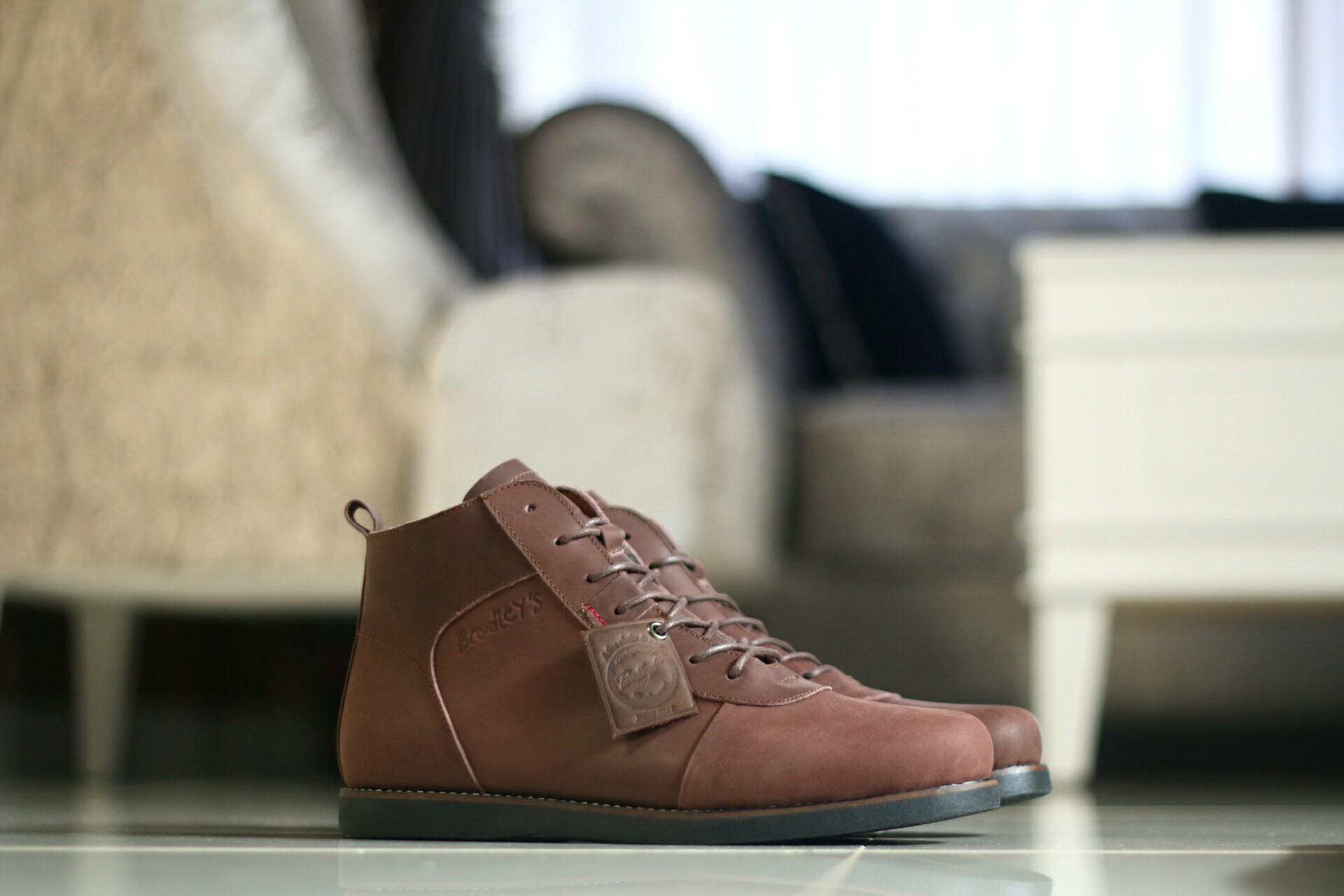 Sepatu Bradley Zapato Chopper Kulit Asli Boot Erol Pria Boots Bradleys Anubis