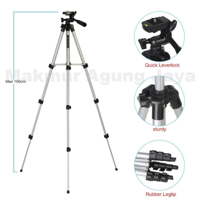 Weifeng Tripod WT-3110A /GMC For Kamera And Smartphone - Silver + Free Holder U