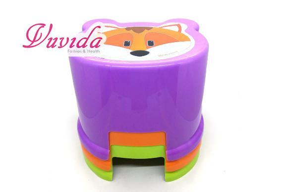 Vuvida Kursi anak safari / bangku anak plastik motif karakter - random colour
