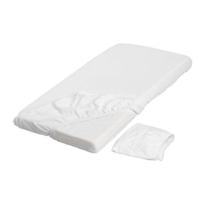 IKEA LEN Seprai berkaret untuk kasur bayi, putih