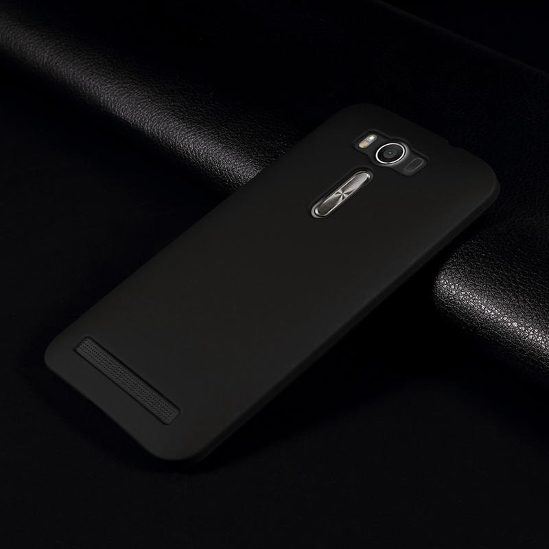 Black Rubber Hard Case Casing for Asus Zenfone 2 Laser 5.0 ZE500KL