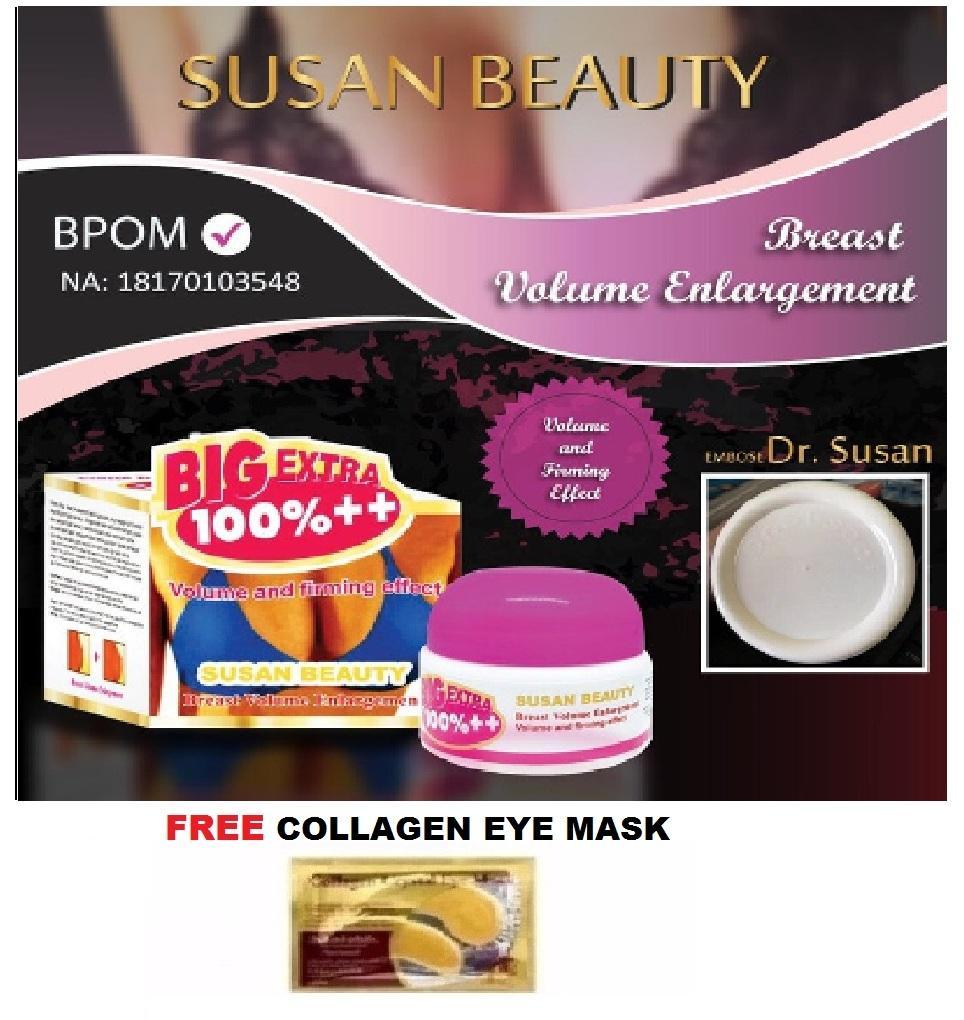 Dr Susan Breast Cream BPOM Original + GRATIS Collagen Eye Mask - 1 Pcs