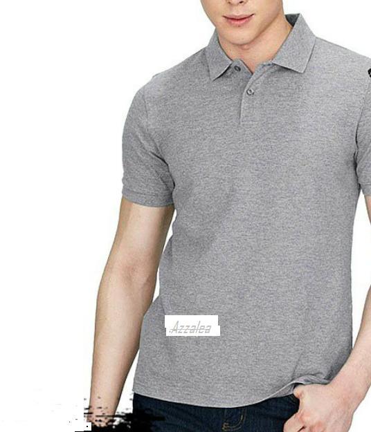 Polos Shirt Polos M L XL Lengan Pendek Kaos Kerah Pakaian Berkerah Atasan Pria Wanita Cewe Cowo Lacos Pique Lacost Fashion Simple Keren Simpel Formal Casual Korean Bagus Murah(Abu Muda)