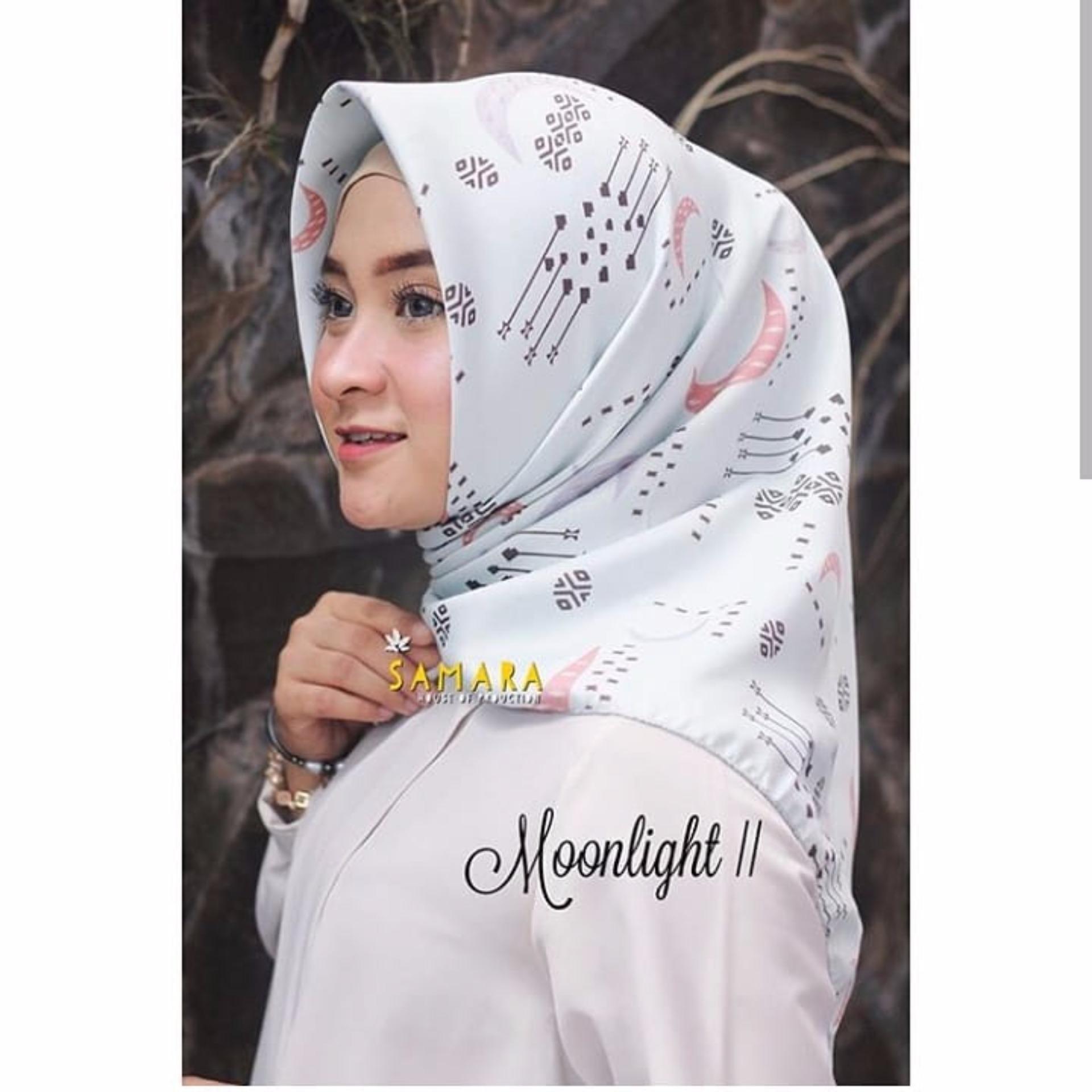 Hijab - Kerudung Segi Empat - Velvet Silk - MoonLight / Jilbab