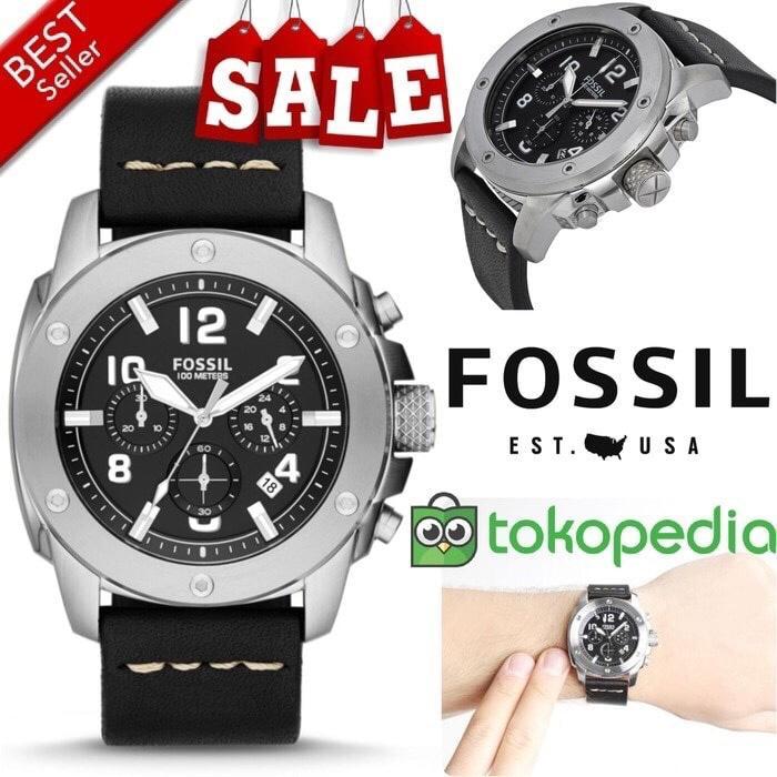 Jam Tangan Pria Merk Fossil FS 4928 / FS4928 Original Free yes