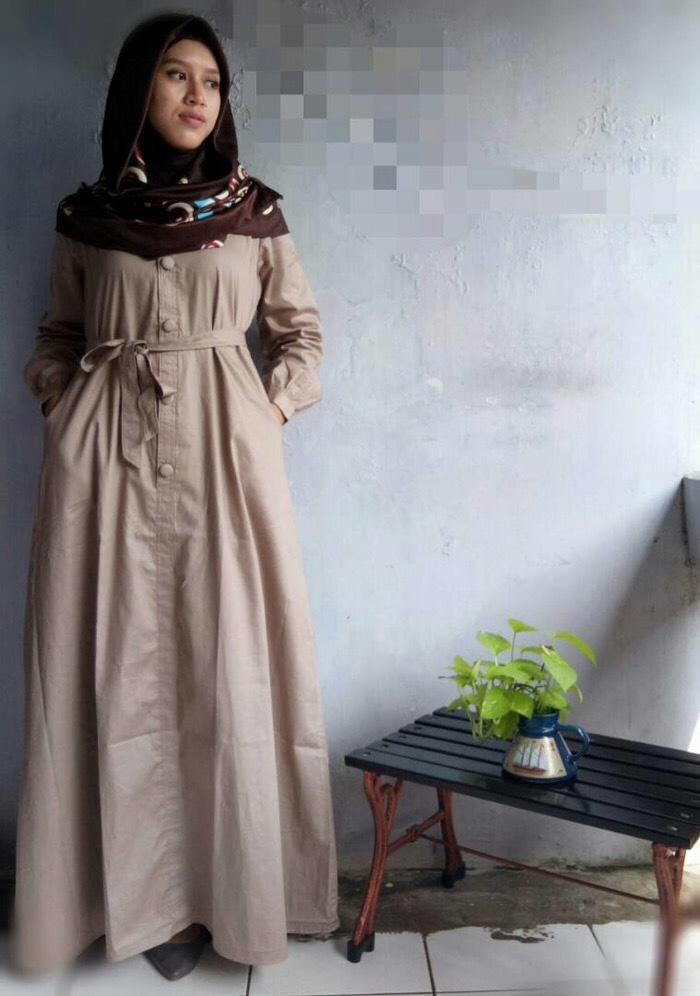 baju gamis jumbo/big size/ukuran besar/katun Jepang/XXXL