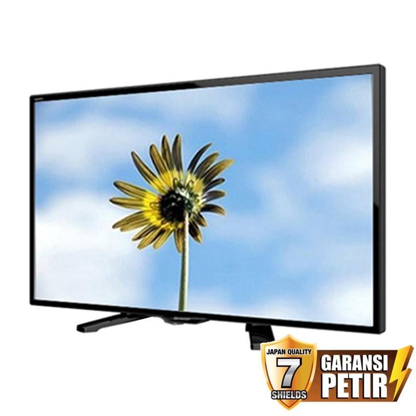 Sharp 24 inch LED AQUOS HD TV - Hitam (Model LC-24LE170i) garansi resmi