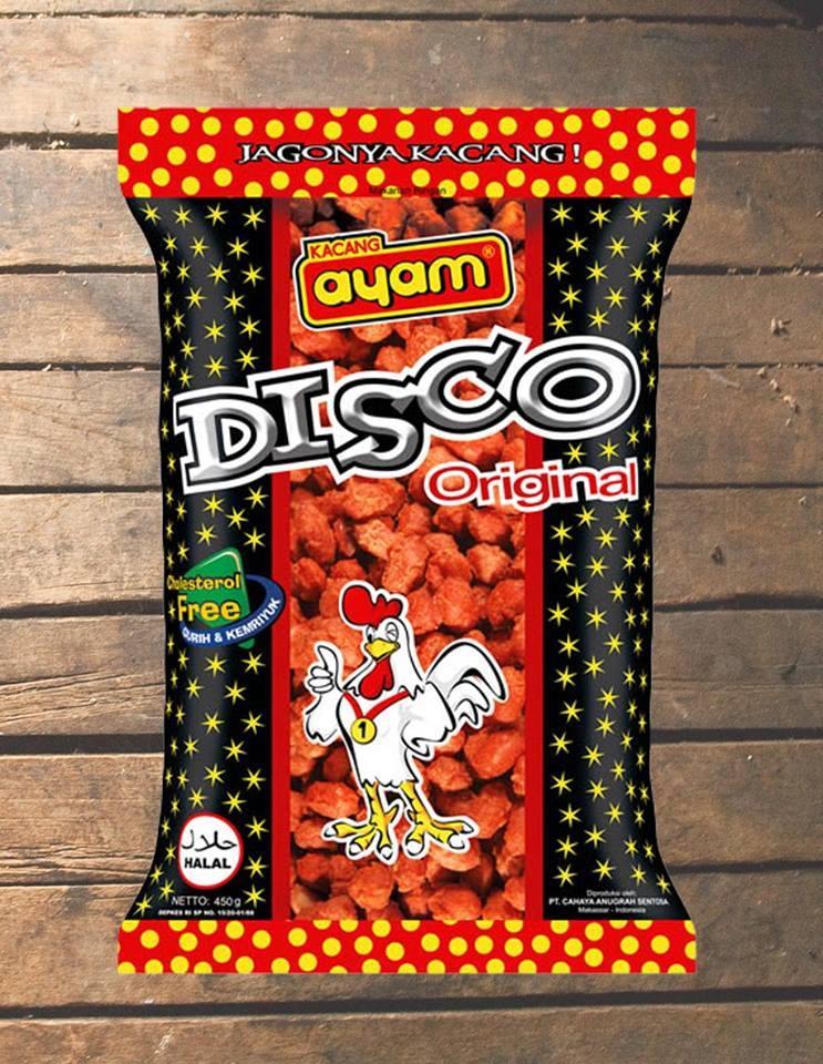 Kacang Disco 900 Gr - Cemilan Khas Makassar - Cap Kacang Ayam Original