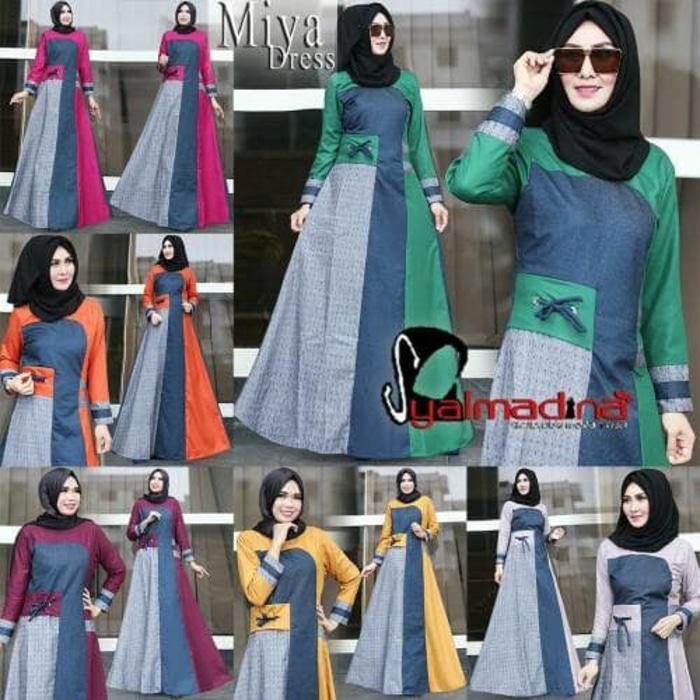 Miya Dress by Syalmadina | Gamis Dress Hijabers Cantik Kekinian