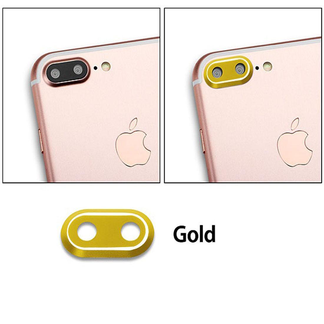 MR Metal Lens Protector / Ring Camera / Pelindung Kamera for Apple iPhone 7 Plus / Iphone7 Plus / iPhone 7G Plus / Iphone 7S Plus / iPhone 7+ Ukuran 5.5 inchi - Gold