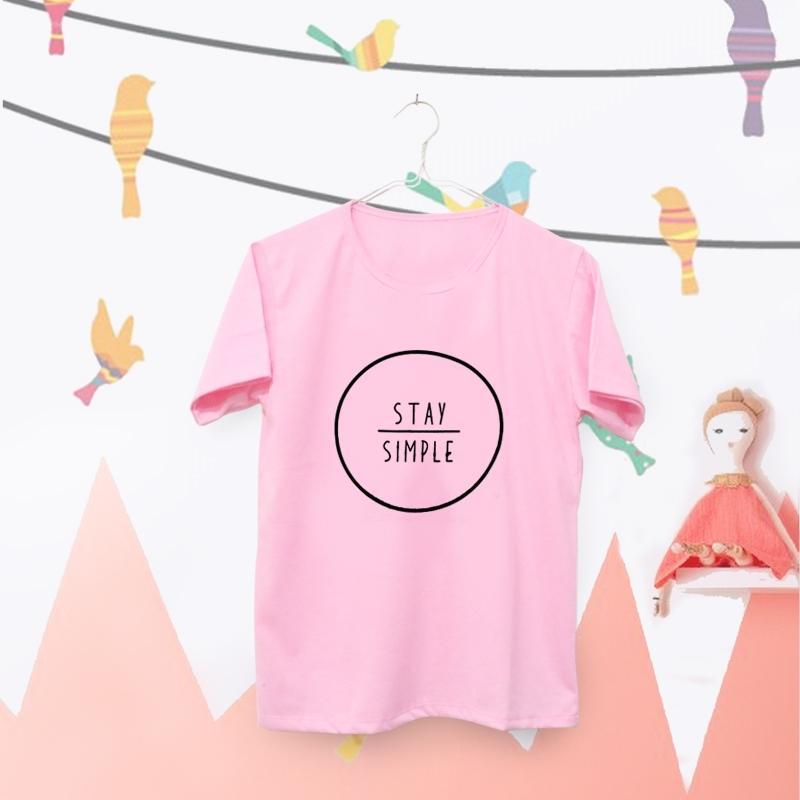 INC Tumblr Tee / T-Shirt / Kaos Wanita Stay Simple - Pink