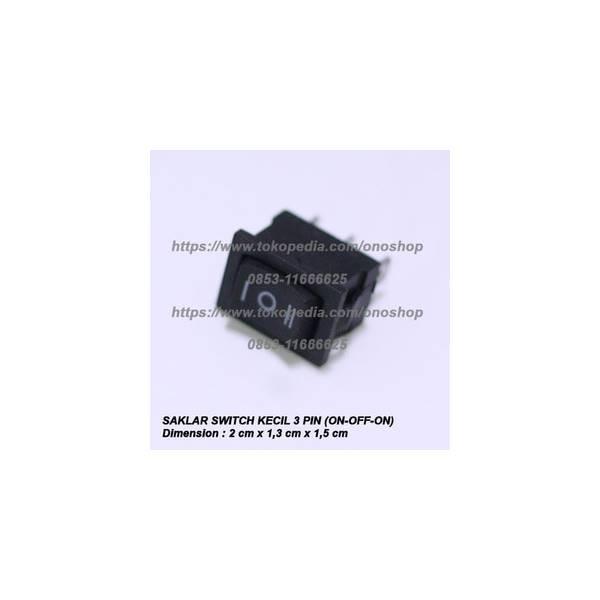 Saklar Switch Kecil 3 Pin (ON-OFF-ON)