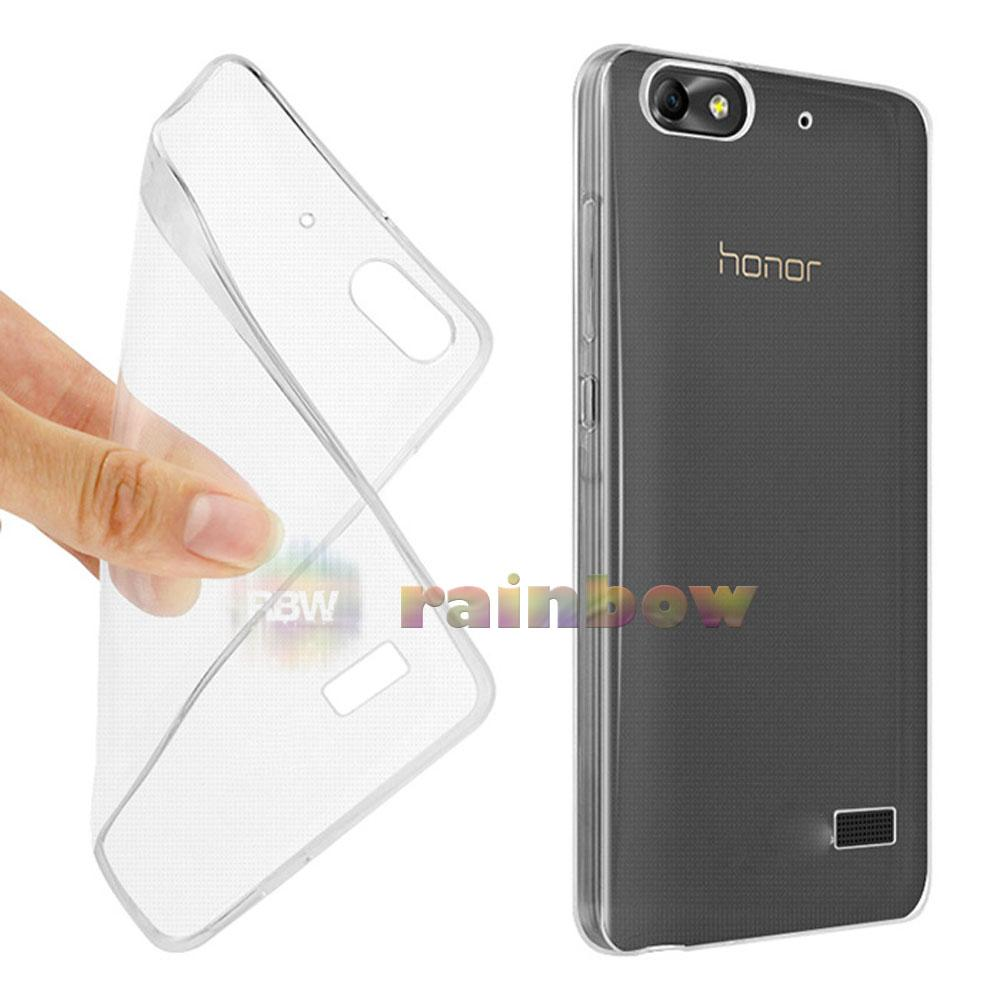 Rainbow Soft Case Huawei Honor 4C Clear / Silicon Case Huawei 4C / Ultrathin Huawei Honor 4C / Silikon Huawei 4C / Jelly Case Huawei 4C / Case Unik / Silicone Casing Huawei Honor 4C - Bening