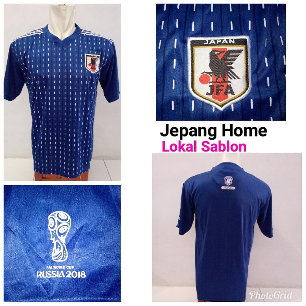 Jersey Baju Jepang Home World Cup 2018 Kaos Kostum Jersy Jersi Bola Negara Japan Biru Piala Dunia WC 18 Grade Lokal ALLSIZE