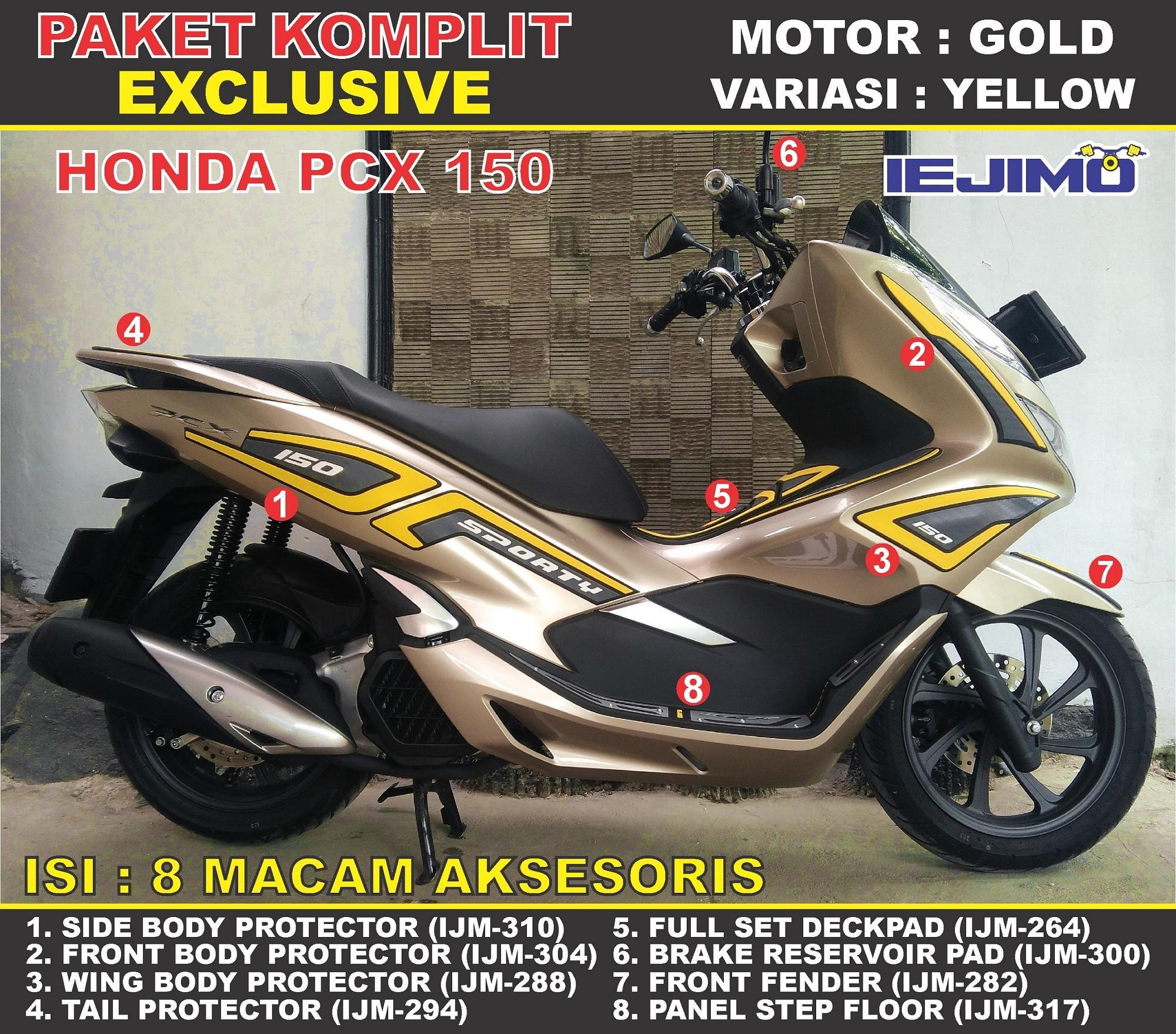 Fitur Paket Komplit Body Protector All New Honda Pcx 150 Aksesoris 70 2018 Striping